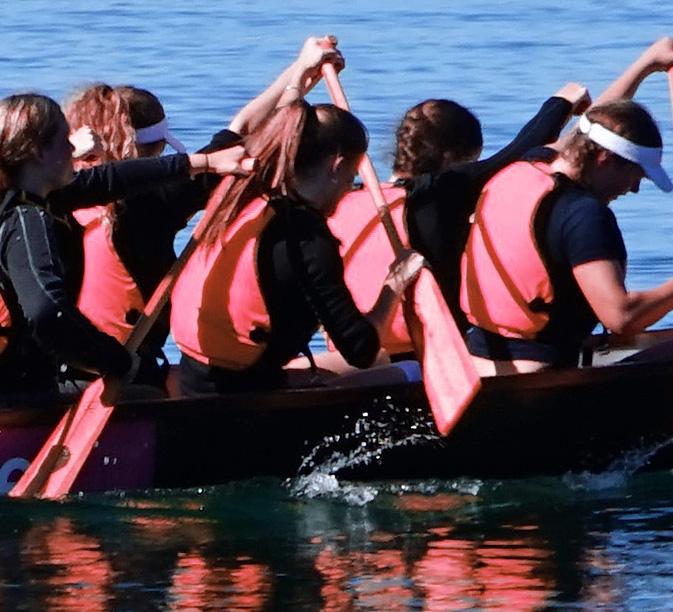 Alle in einem Boot! Drachenboot fahren auf der Fulda