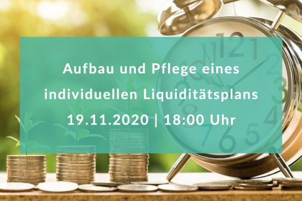 Aufbau und Pflege eines individuellen Liquiditätsplans